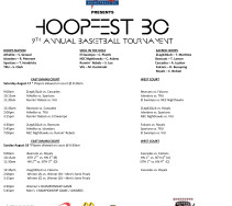 9TH ANNUAL HOOPFEST BC SCHEDULE